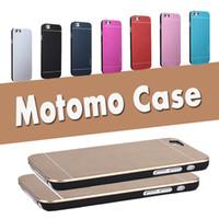 Wholesale Thin Aluminum Galaxy - Motomo Aluminum Burshed Metal Ultra Thin PC Hard Cover Case For iPhone 7 6 6S Plus 5 5S Samsung Galaxy S7 S6 Edge Note 5 Free Ship MOQ:10pcs