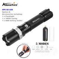 AloneFire TK107 3Mode Tactical Flash Light Torch Mini Zoom Rechargeable Puissante lampe de poche LED AC Lanterna Pour Voyage en plein air