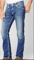 Wholesale Rock Revival Short - Free Shipping hot Good quality Men's Robin Rock Revival Jeans Crystal Studs Denim Pants Designer Trousers Men's size 30-40 short