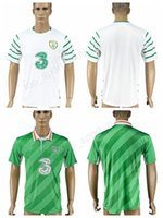 Wholesale Home Made Kit - Ireland Soccer Jersey 2017 2018 National Team Make Customized Football Shirt Uniforms Kits Home Green Alternate White Thai Quality