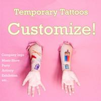 Wholesale Custom Temporary Tattoos Wholesale - Wholesale-Personalized OEM Temporary Tattoo Customize Tattoo Adorable Custom Make Tattoo For Cosplay or Company Logo Party Football Game