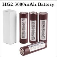 Wholesale vape mod smok alien for sale - Group buy 18650 battery HG2 mAh Capacity Max A High Drain Batteries Rechargable Lithium Battery fit Vape mod Smok Alien G priv mod