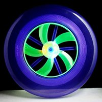 Wholesale Wholesale Frisbees - 20pcs LOT Flying Disk Arrow Colorful Spin LED Light Outdoor Toy Flying Saucer Disc Frisbee UFO Kid Toy YH373
