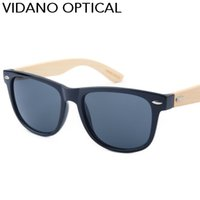 Fashion square hand - Vidano Optical New Arrival Genuine Bamboo Sunglasses Genuine Wood Hand Polished For Men and Women Classic Square Fashion Gradient UV400