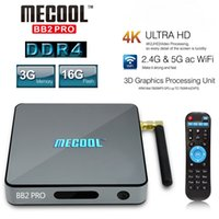 MECOOL BB2 PRO Android 7.1 Caixa de TV inteligente Amlogic S912 Octa Core UHD 4K 3GB DDR4 16GB VP9 Dual WiFi 1000M LAN H.265 Media Player
