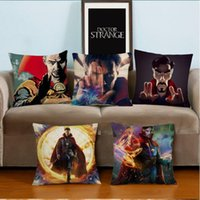 Wholesale doctor print resale online - Doctor Strange Movie Pillowcases Throw Pillow Cases Cushion Cover cm Linen Cotton Square Pillow Case Home sofa