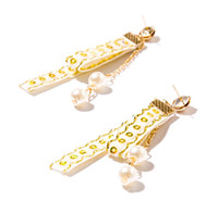 Wholesale Sequins Earrings - Gold Bling Bling Velvet Stud Earrings Simple Fashion Pearls Sequins Charm Long Earring For Women Jewelry 3 Colors