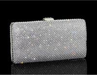 Wholesale Diamonds Czech - 100%Real Image Bling Bling Shiny Czech Diamond Handbag Evening Bag Flap Package Wedding Party Clutches 2017-2018