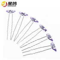 Wholesale Pink Ladybug - New Arrival Charming Wedding Bridal Party rhinestone Ladybug Hair Pins Clip Barrettes Multi Color Animal Hairpins for women Hair Accessories