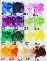 Wholesale Abc Wholesale Gifts - free shipping 2017 Newests 50pcs 5.5-6'' ABC hair bows Boutique hair bows solid big hair girl accessories