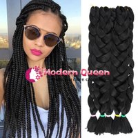 Wholesale Kanekalon Free Shipping - Xpression Synthetic Braiding Hair 82inch 165grams single color Premium Ultra Braid Kanekalon jumbo braid Hair Extensions Free Shipping