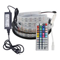 Wholesale Led Strip Modes - New Dimmable 12V 5M 600 LEDs SMD5050 RGB RGBW RGBWW LED Strip Lights 8-Modes Changeable Holiday Lighting LED Waterproof Light Strips