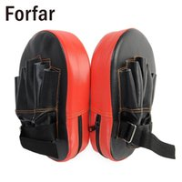 2pcs Pu Leather Punching Boxing Pad Rectangle Focus Mma Kicking Strike Power Punch Equipamento de Treinamento Kung -Fu Artes Marciais