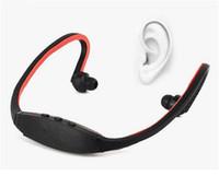 en iyi kablosuz mp3 çalar toptan satış-Toptan-En çok satan Kulaklık ile Kablosuz Spor MP3 Çalar Kulaklık FM / TF Radyo Kartı Dijital Mp3 çalarlar Mikro SD TF Kart MP3-10
