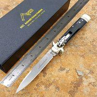 Wholesale Pocket Knives Bone Handle - AKC knife microtech Hunt Knife Black ox horn handle automatic knife Plus CNC fine grinding clear lines Italian folding fox Pocket knives