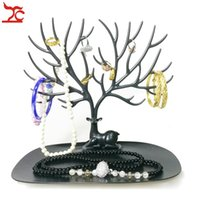 Wholesale Tree Stand Jewelry Earrings Necklace - Brand New Jewelry Deer Horn Stand Necklace Earring Ring Display Organizer Holder Plastic Branch Tree Bracelet Display Rack