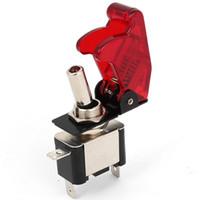 tampas de interruptor 12v venda por atacado-DC 12V 20A LED Iluminado SPST ON / OFF corrida Car Cover Toggle Switch
