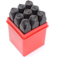 Wholesale Metal Stamping Craft - Wholesale- Stamps Numbers Set Punch Steel Metal Tool Case Craft Hot 2.5mm