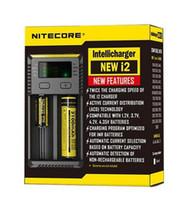 chargeur d4 achat en gros de-100% D'origine Nitecore Nouveau I2 Digicharger LCD Chargeur De Batterie D'affichage Universel Nitecore i2 Chargeur VS Nitecore i2 D2 D4 UM10 UM20 bateau libre