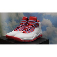 Wholesale Men Soccer Shoes Venom - 2016 air retro 10 X men Basketball Shoes steel Grey powder Blue Chicago Seattle Blue Ice Bobcats Infrared Venom 10 Sneakers Trainers Boots