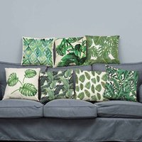 Wholesale Flower Throw Pillow - Tropical Cushion Covers Hibiscus Flowers Throw Pillows Covers Tropical Cotton Line Cushion Pillow Cases Without Inner