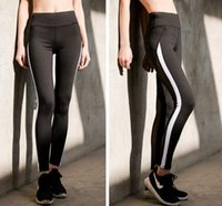 Wholesale tight fit women - 2017 New Women Sexy Yoga Pants Dry Fit Sport Pants Fitness Gym Pants Workout Running Tight Sport Leggings Female Trousers