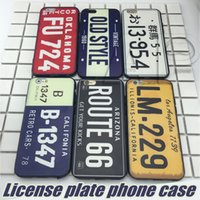 Wholesale Black Phone Number - Creative License Plate Number Phone Cover For iPhone 7 Plus 6 6s SE Acrylic+TPU Cases Capa Funda Coque Cases