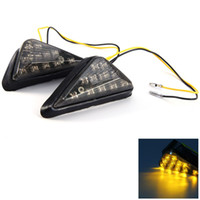 2Pcs Motos Motorcycle 12V 2W 11 LED Turn Signal Indicator Light Cornering Lamp Blinker Flasher Amarelo 135069301