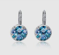 Wholesale New Arrival Western Style Jewelry Shining Blue Austrian Crystal Ear Cuff Exclusive Female Birthday Engagement Wedding Gifts