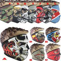 Wholesale Neoprene Face Mask Snowboard - Neoprene Full Skull Face Masks Halloween Costume Party Face Mask Motorbike Bike Ski Snowboard Sports Balaclava