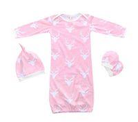 Wholesale Gloves Light Purple - romper + hat + gloves baby pajamas set baby cloting set Christmas Toddler Baby pajamas sets 3 pcs. infant sleeping bag
