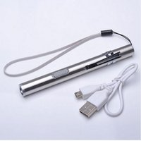 Wholesale Camping Flashlight Design - USB Rechargeable LED Flashlight High-quality Powerful Mini Cree LED Torch XML Waterproof Design Pen Hanging With Metal Clip