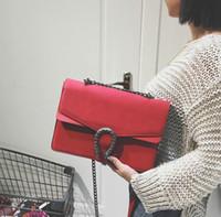 викторианский дракон оптовых-Оптовая торговля-замшевые сумки сумки женщины известный бренд Dragon bag vintage chian crossbody bag classic shoulder messenger bolsas дизайнерский ранец