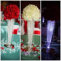 decoración de diamantes fiesta al por mayor-Cristal Artesanía Diamante grande Mesa Confeti Cristales Decoraciones para bodas Diamante acrílico La novia con flores DÉCor