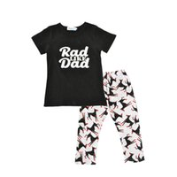 Wholesale Wholesale Dog T Shorts - Infants baby hunter printed outfits 2pc set rad like dad prinitng shiort sleeve T shirt+dogs printing pants chic clothing