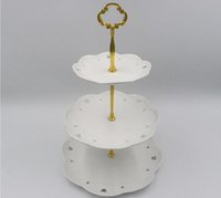 Wholesale Cake Display Stands Wholesale - 1 2  3Tier Stainless Steel Round Cupcake Stand Wedding Birthday Cake Stand Display Tower Kitchen Tools (Plates are NOT inlcuded)