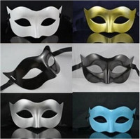 Wholesale Plastic Black Venetian Mask - 2017 new Men's Masquerade Mask Fancy Dress Venetian Masks Masquerade Masks Plastic Half Face Mask Optional Multi-colors free shipping