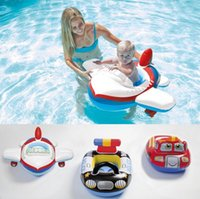 Wholesale Intex Ring - INTEX Cartoon Children Baby Swimming Pool Swim Seat Ring Float For 0-2 Years Rattle inside,Fire Rescue, Patrol Boat