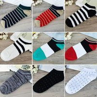 Wholesale Wholesale Soft Slippers - Mens Socks Classic Colors Leisure Socks For Mens Slippers Sports Socks 100 Cotton Soft Casual Invisible Male Summer Light Stripe Short Sock