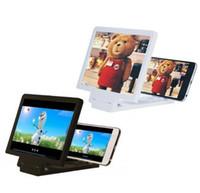 transparentes weißes kleinpaket groihandel-3D vergrößerter Bildschirm Handy 3D Handy Bildschirmlupe Vergrößerter Bildschirm Smartphone Verstärker Lupe Halterung Handy Goophone Halter