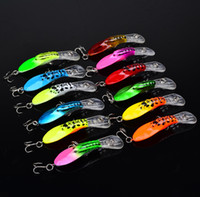 Wholesale 4g lures - 12 color cm g Hard plastic lures fishing hooks Fishhooks Fishing baits Hook Artificial Lure Pesca Tackle Accessories