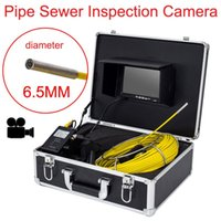 "Wholesale Sewer Drain Video Inspection Camera - AP70 20M Sewer Waterproof Video Camera 6 LEDS Pipe Drain Sewer Inspection Camera 7"" LCD Screen Endoscope Inspection MINI Camera ann"
