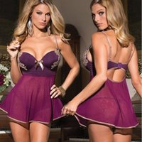 Wholesale Sex Sleeping Dress - Sexy Woman Sex doll Clothing Exotic Lingerie Sexy Underwear Women Lady Maid Erotic Underwear Dress Sleep Wear