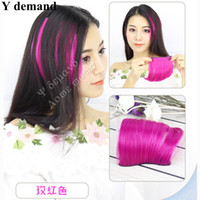 Wholesale Natural Hair Bangs Extensions - 5pc Clip In On like Human Hair Bang Fringe Hair Pieces Extension Natural Synthetic Hair Accessories Y demand