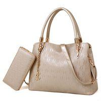 Wholesale Handbag Sets - Famous Brand Handbag Women Purses and Handbags Fashion Chains Composite Bag Designer Women's Shoulder Bags Pu Leather 2 Bag Set