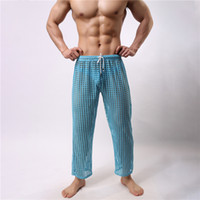 Wholesale mesh long johns - New Men Long Johns Underpants Fashion Mesh Hollow Out See Through Breathable Nightwear Sexy Sleepwear Bathing Robe Gay Male Clubwear