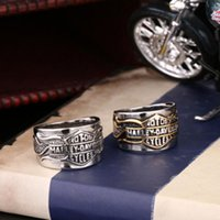 Wholesale ring spots - Europe and the United States jewelry wholesale engine letter men's rings, men's accessories, stainless steel ring new spot