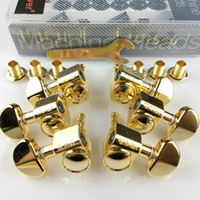 Wholesale Machine Head Guitar Gold - 1Set 3R-3L Original Grover Guitar Machine Heads Tuners 1:18 Gold ( With original packaging)