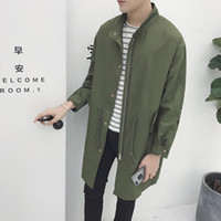 Wholesale Mens Add Jackets - Autumn winter add cotton swag jackets for men hip hop mens coats and jackets army green man windbreaker ma1 long bomber jacket