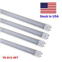 Wholesale Retail Coolers - LED Tube Lights 4 ft 4 Feet 18W 22W 28W LED Tubes Fixture 4ft Clear Cover G13 120V Bulbs Lighting Retail Wholesale